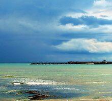 Stormy Lyme Regis by Susie Peek