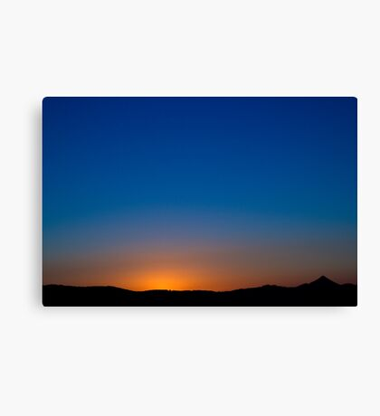 western skyline from Emu Mountain Canvas Print