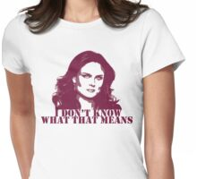 Bones - Temperance Brennan in red Womens Fitted T-Shirt