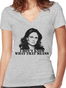 Bones - Temperance Brennan in black Women's Fitted V-Neck T-Shirt