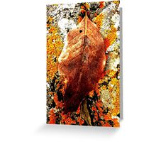 Lonely leaf on a lonely shore. Greeting Card