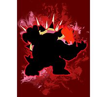 Super Smash Bros. Red Bowser Silhouette Photographic Print