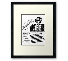 Daleks Professional Services Framed Print