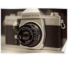 praktica SLR with Russian Industar 50mm lens Poster