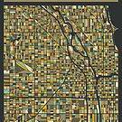 CHICAGO MAP by JazzberryBlue