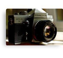 Praktica SLR with Olympus Zuiko 50mm lens Canvas Print