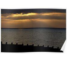 Eastbourne Sunset. Poster