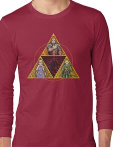 The Triforce... and a bit of darkness Long Sleeve T-Shirt