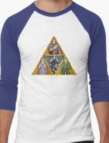 The Triforce... and a bit of darkness Men's Baseball ¾ T-Shirt