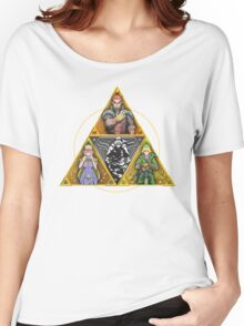 The Triforce... and a bit of darkness Women's Relaxed Fit T-Shirt