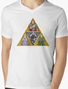 The Triforce... and a bit of darkness Mens V-Neck T-Shirt
