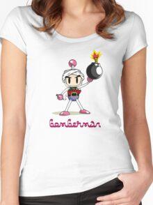 Osama Bin Bomberman Women's Fitted Scoop T-Shirt