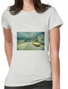 Yellow storm car  Womens Fitted T-Shirt