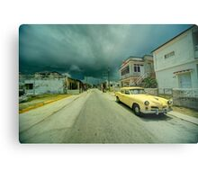 Yellow storm car  Metal Print