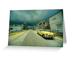 Yellow storm car  Greeting Card