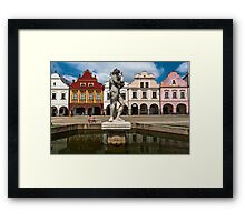 Telc, Czech Republic Framed Print