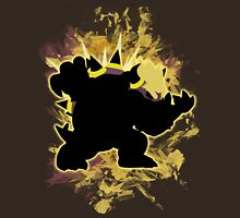 Super Smash Bros Yellow Bowser Silhouette Unisex T-Shirt