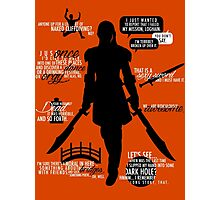 Dragon Age - Zevran Quotes Photographic Print