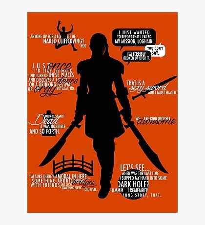 Dragon Age - Zevran Quotes Photographic Print