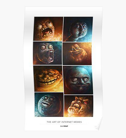 The Art of Internet Memes - by Sam Spratt Poster