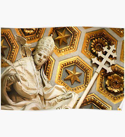 Detail, Chiesa di San Luigi dei Francesi Poster