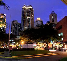 Makati city at night by lensbaby
