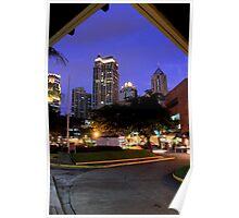 Makati city at night Poster