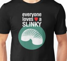Slinky! [WHITE TEXT] Unisex T-Shirt