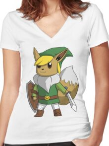 Eevee/Link Women's Fitted V-Neck T-Shirt