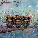 three little night owls by © Karin (Cassidy) Taylor