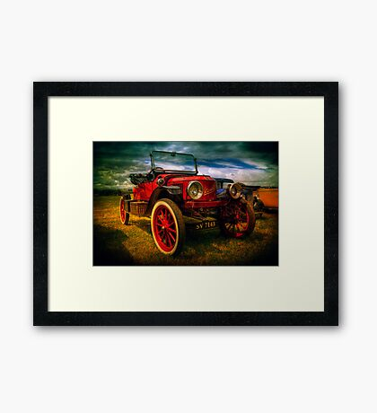 Vintage Red Framed Print
