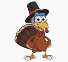 Thanksgiving Turkey Character Baby Tee