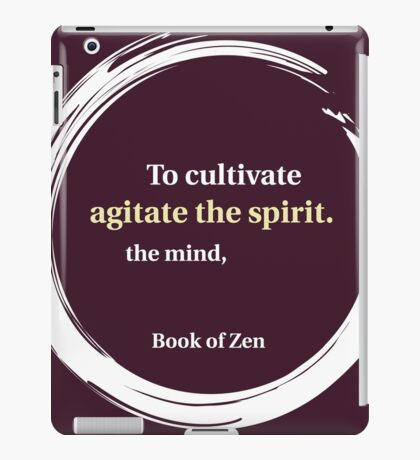 Education Quote About the Mind & Spirit iPad Case/Skin