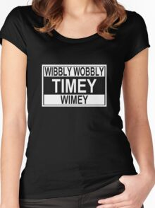 Timey Wimey Women's Fitted Scoop T-Shirt