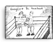Super Heavyweight Social Network Title Fight Canvas Print