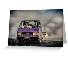 REARENDED Bairnsdale Dragway Burnout Greeting Card