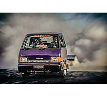 REARENDED Bairnsdale Dragway Burnout Photographic Print