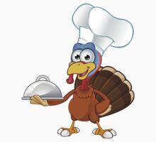 Thanksgiving Turkey Character Kids Tee