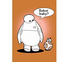 Robot Baby Photographic Print