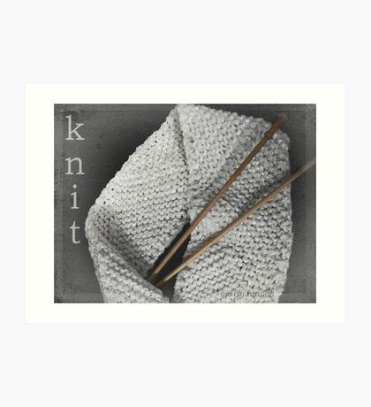 Knit Art Print