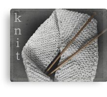 Knit Canvas Print