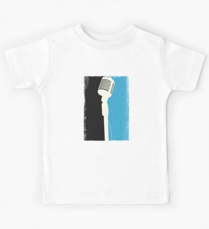 Retro Microphone Kids Tee