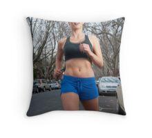 Running in Elwood Throw Pillow