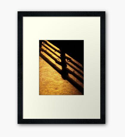 golden rain Framed Print