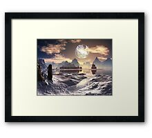 Under a Broken Moon Framed Print