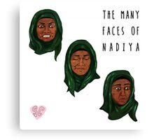 The Many Faces of Nadiya, GBBO Canvas Print