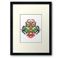 red yelow Framed Print