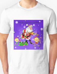Santa Claus with Elves Unisex T-Shirt