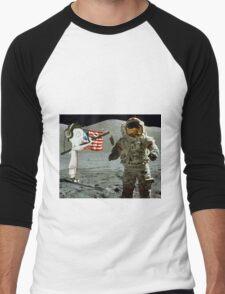 Moon landing by WRTISTIK Men's Baseball ¾ T-Shirt