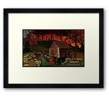The Red Weed Framed Print